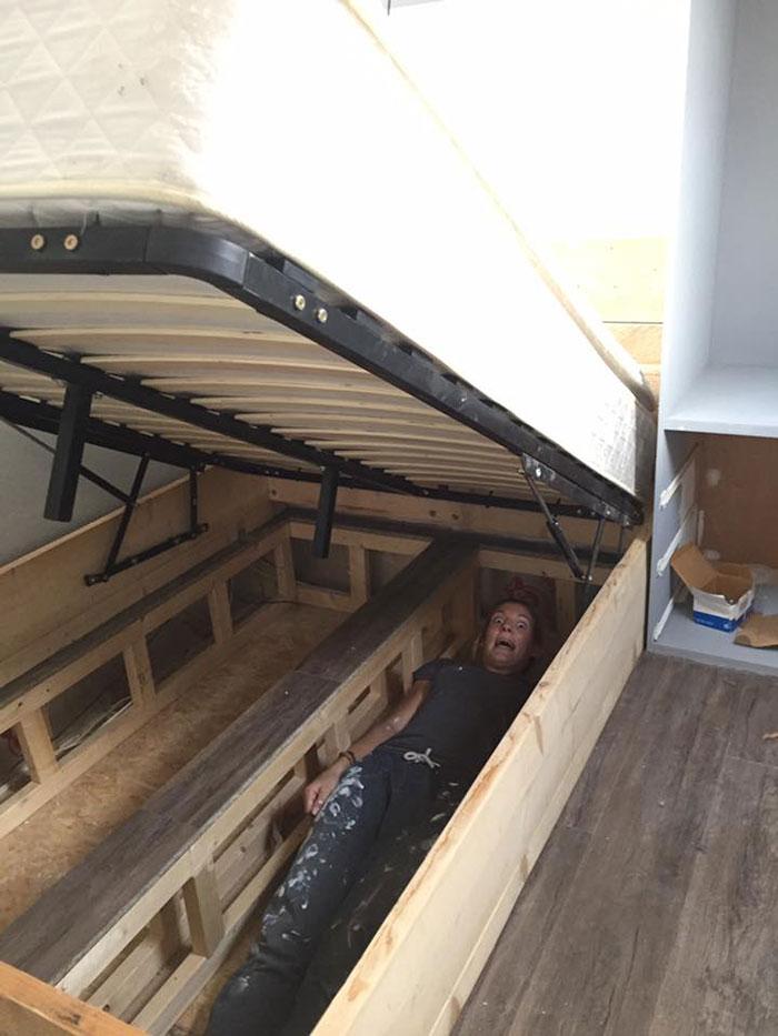 Cama box com espaço