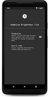 Adaptive Brightness Tile - Imagem 1 do software
