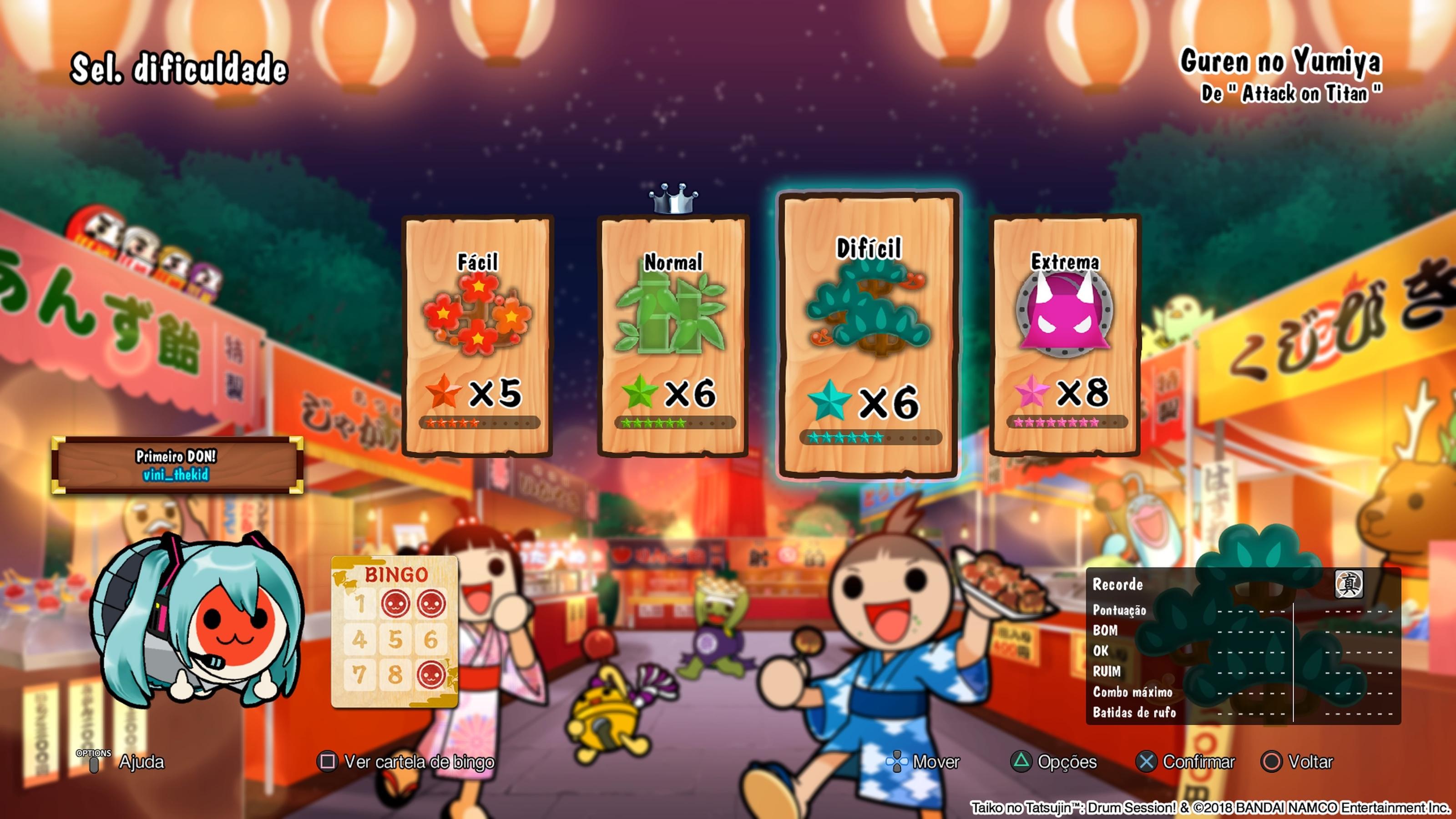 Taiko no Tatsujin: Drum 'N' Fun é simples, mas traz grande dose de diversão
