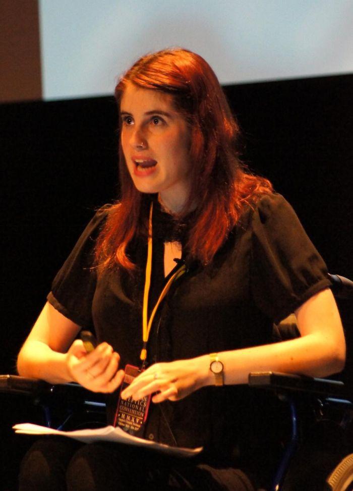 Mulher em conferência