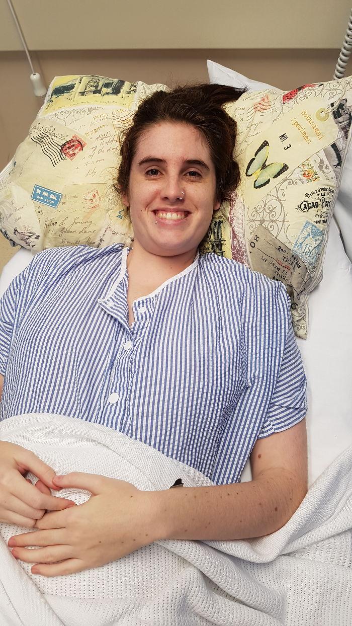 Mulher hospitalizada