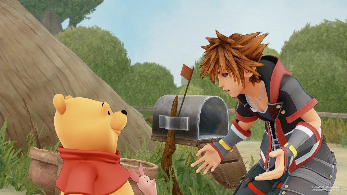 Kingdom Hearts 3 ganha novas imagens com Ursinho Pooh e 100 Acre Wood
