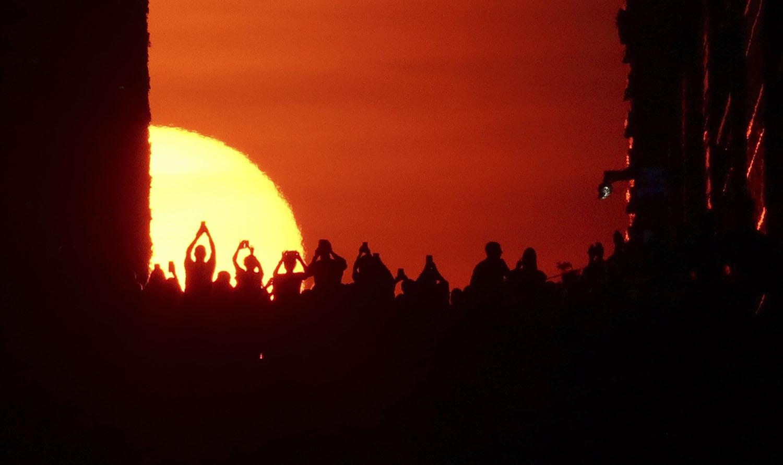 Imortalizando o pôr do sol