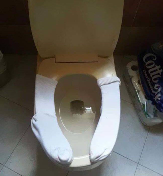 Vaso sanitário com proteção