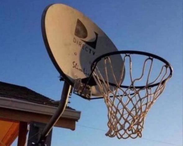 Antena convertida em cesta