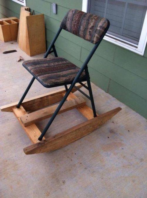 Cadeira de balanço improvisada