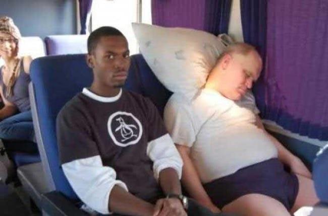 Dorminhoco no trem