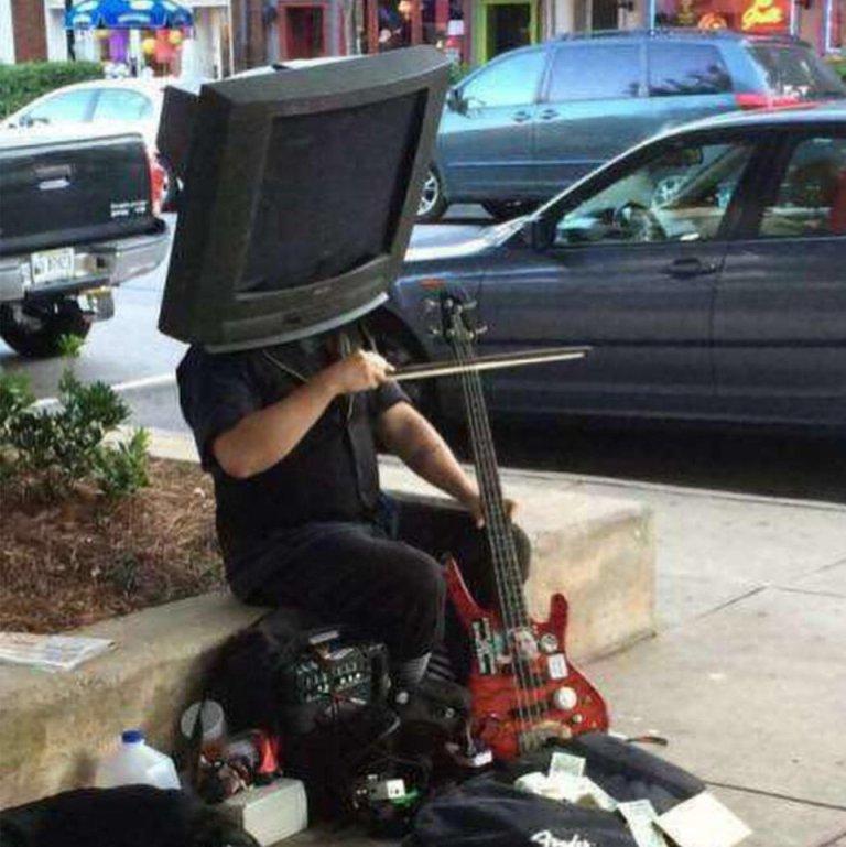 Artista de rua maluco