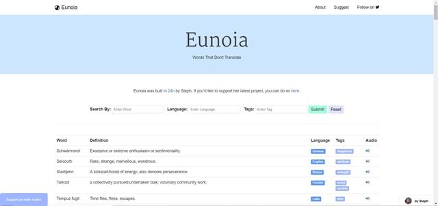 Eunoia - Imagem 1 do software