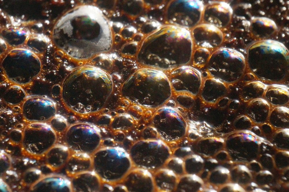 Muitas bolhas de sabão