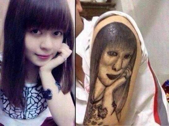 Tatuagem medonha