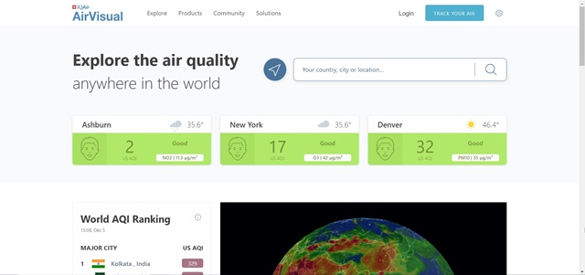 AirVisual - Imagem 1 do software