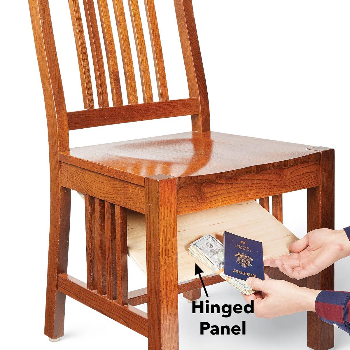 Cadeira com fundo falso