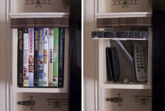 Coleção de DVDs falsa