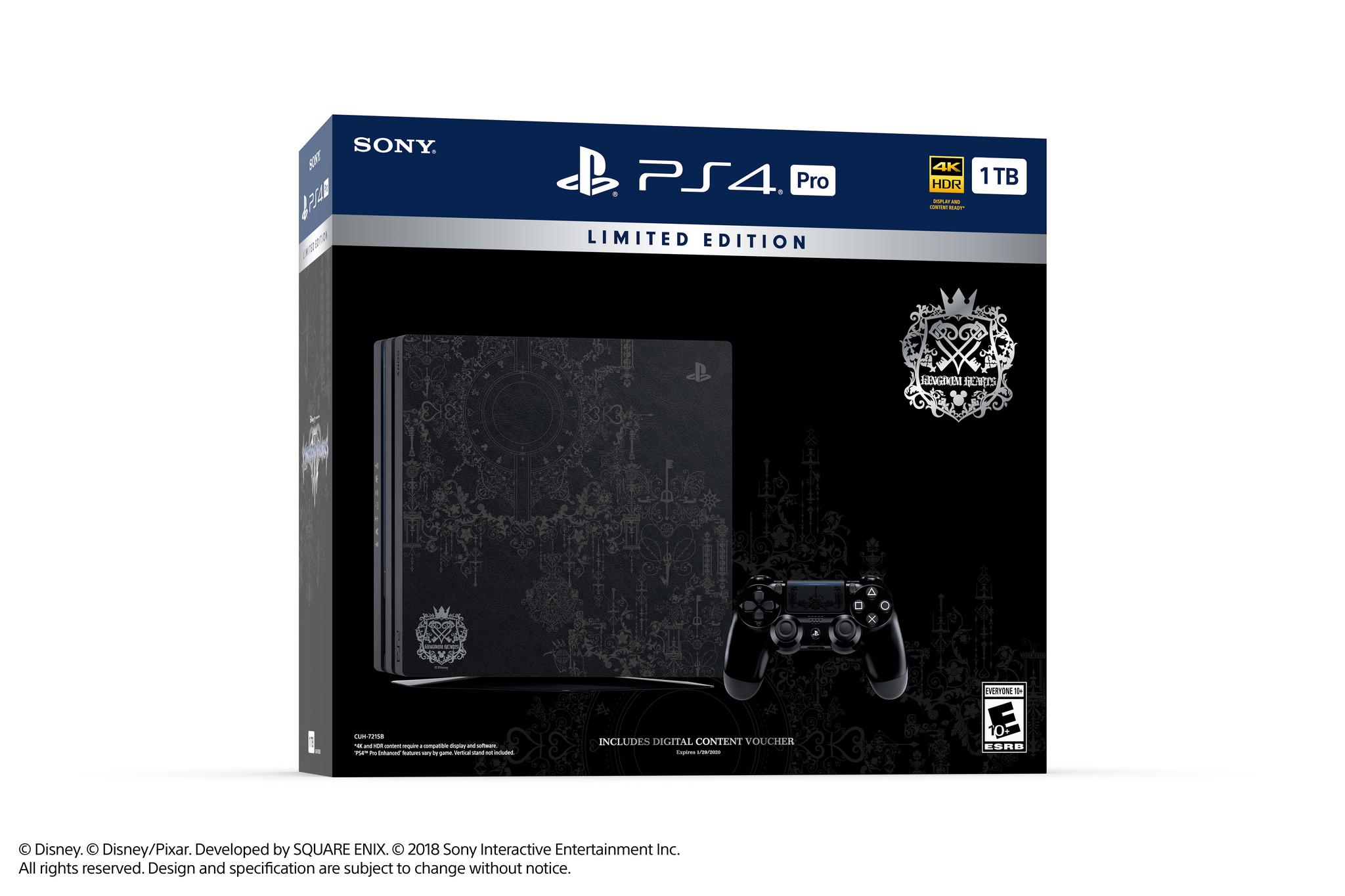 PlayStation 4 Pro ganha versão limitada inspirada em Kingdom Hearts III