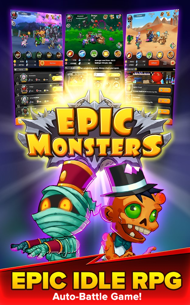Epic Monsters : IDLE RPG Download to Android free