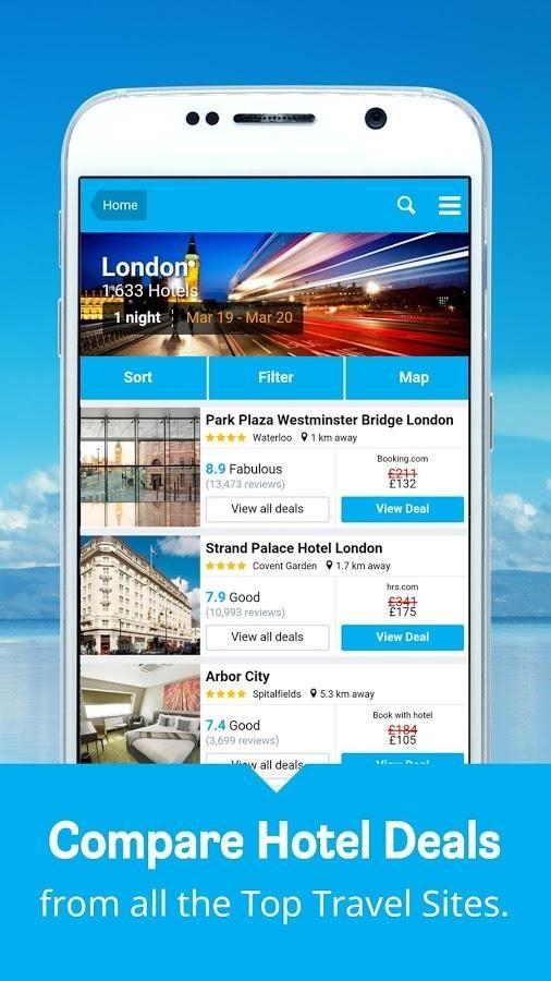CompareHunt - Cheap Hotels & Flight Tickets - Imagem 1 do software