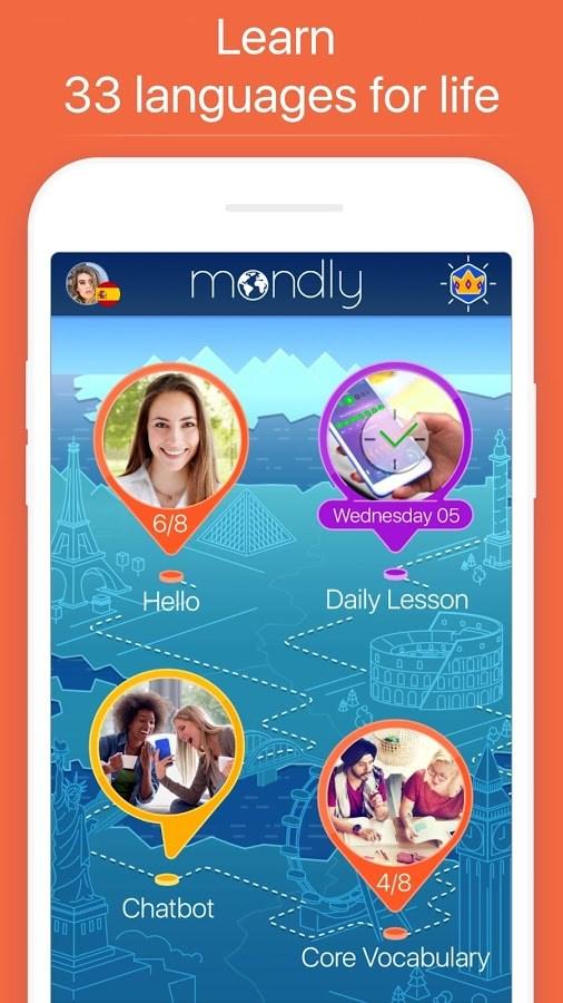 Mondly - Imagem 2 do software