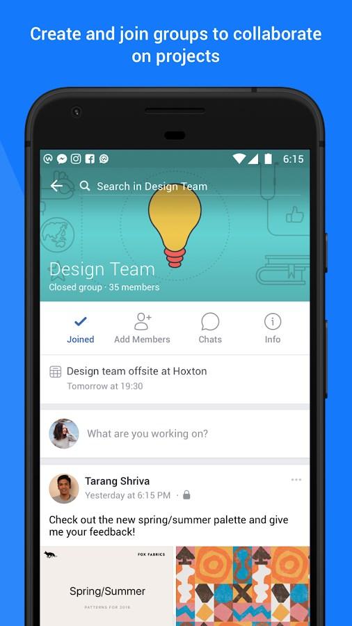 Workplace by Facebook - Imagem 1 do software