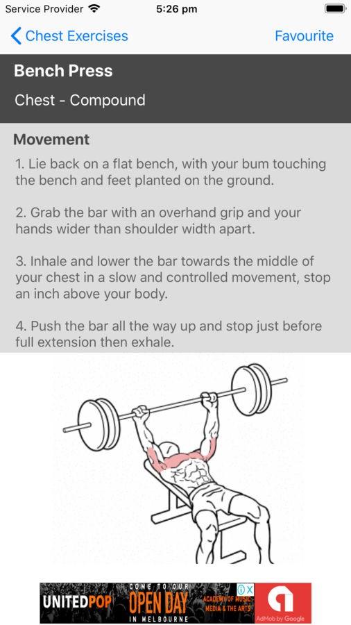 Gym Exercises - Imagem 2 do software