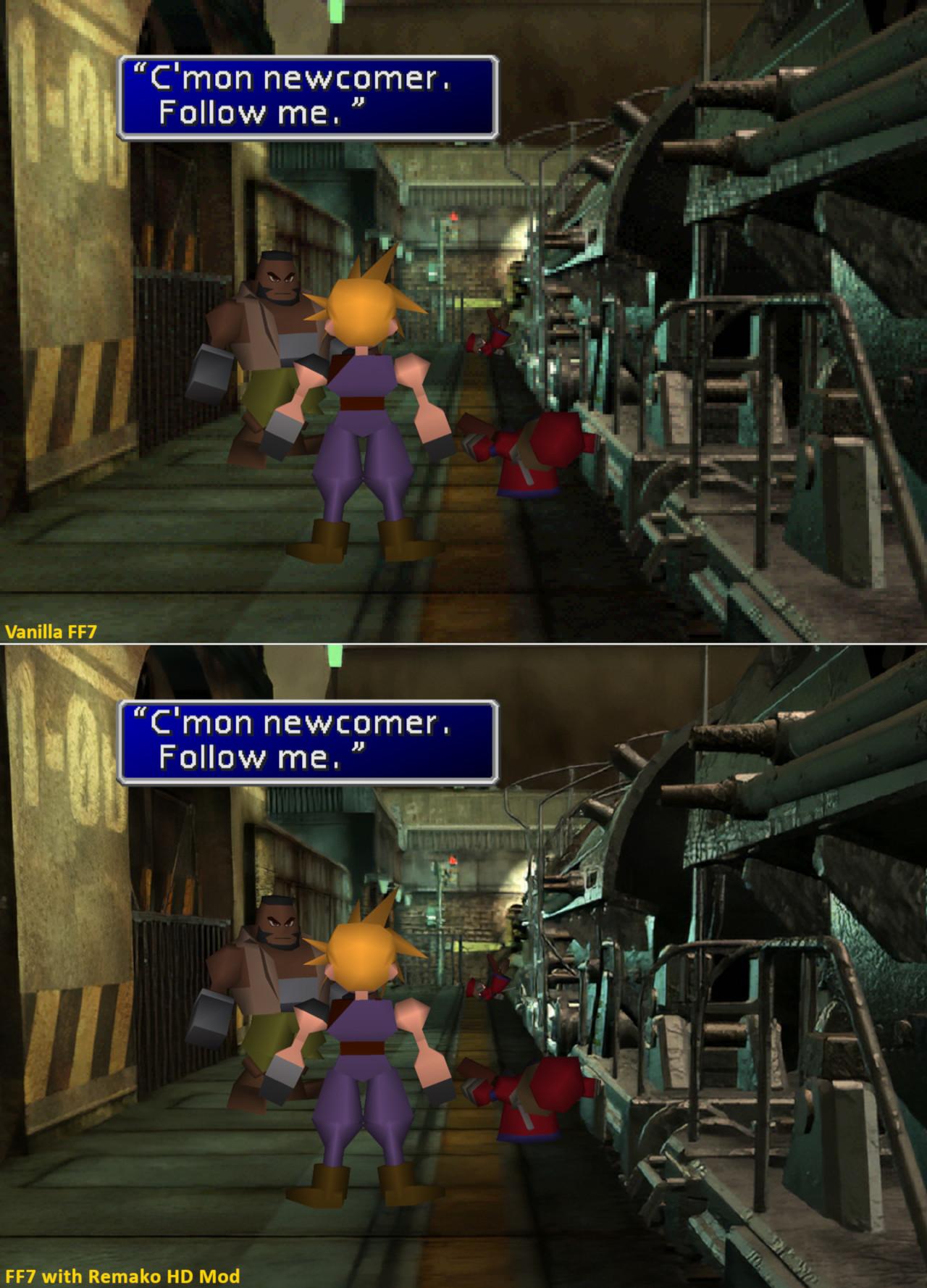 Fãs fazem mod de remasterização de Final Fantasy VII – mas do jeito certo