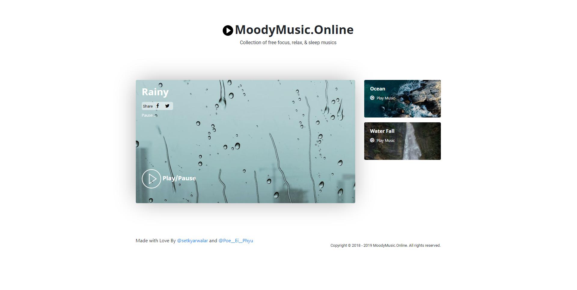 Moody Music Online - Imagem 1 do software