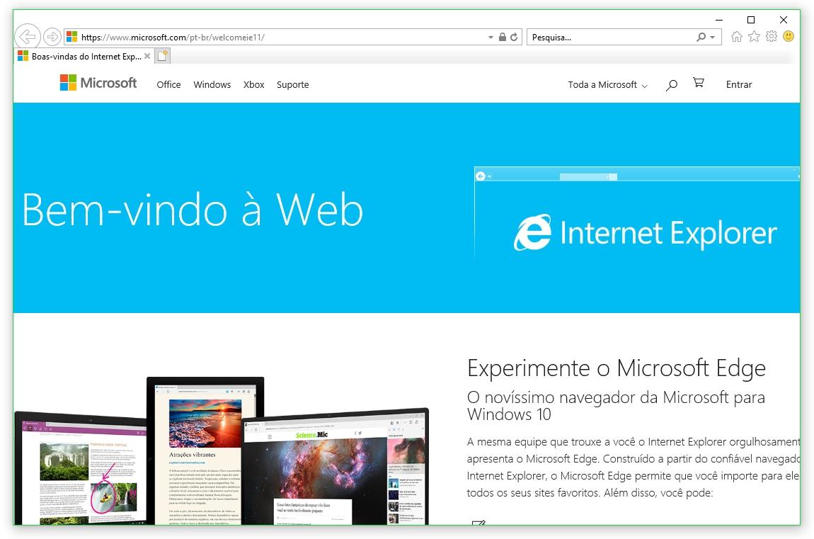 Microsoft faz novo apelo para as pessoas abandonarem o Internet