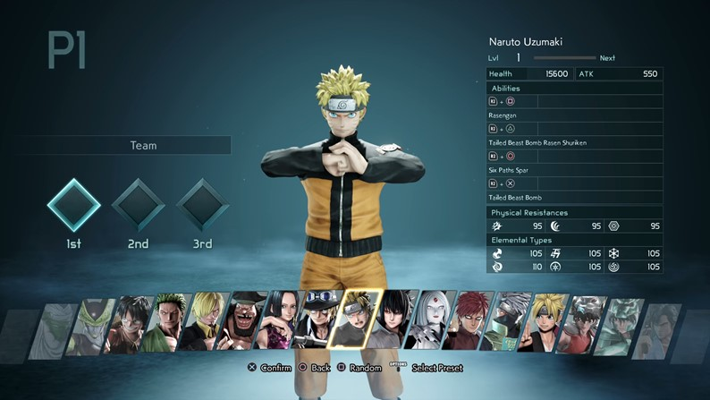 Quais os personagens de Jump Force?
