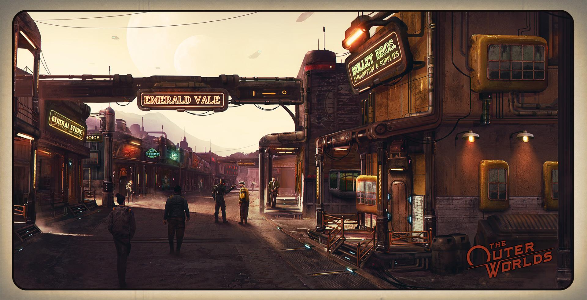 The Outer Worlds: arte da tela de loading reflete suas escolhas no game