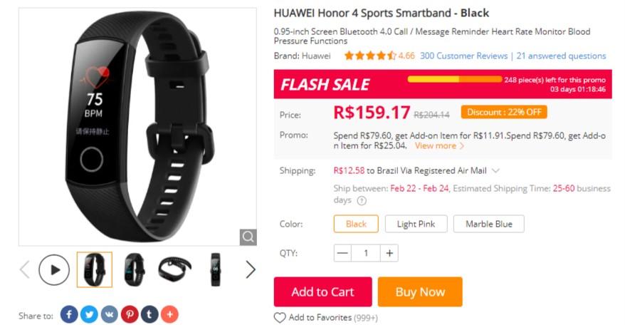 f99db6f9880 Promoção da Huawei  pulseiras Honor Band 4 e Honor Band 3 estão em ...