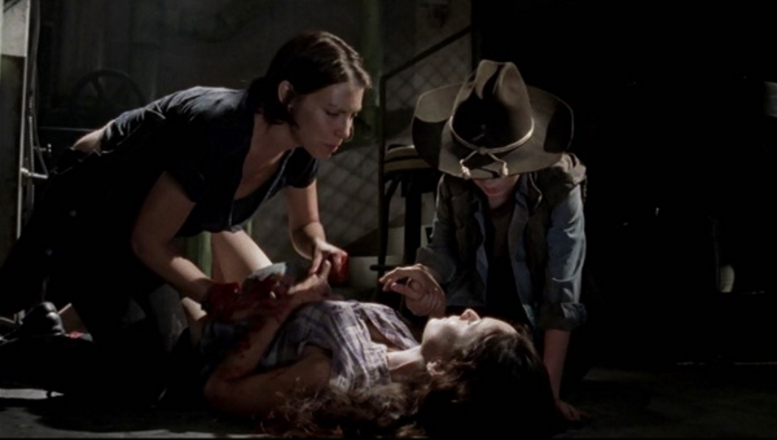 The Walking Dead: Lauren Cohan, a Maggie, relembra cena que a fez vomitar