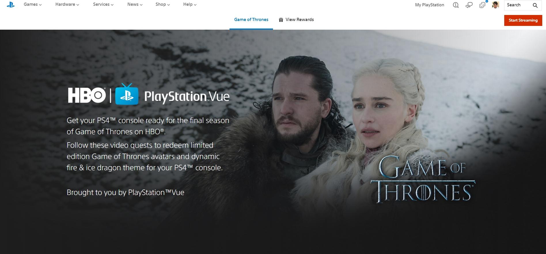 Veja como baixar um tema dinâmico grátis de Game of Thrones no seu PS4