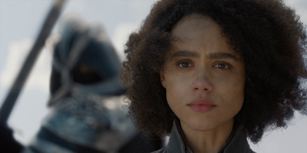 Nathalie Emmanuel, a Missandei, comenta episódio 8x04 de Game of Thrones