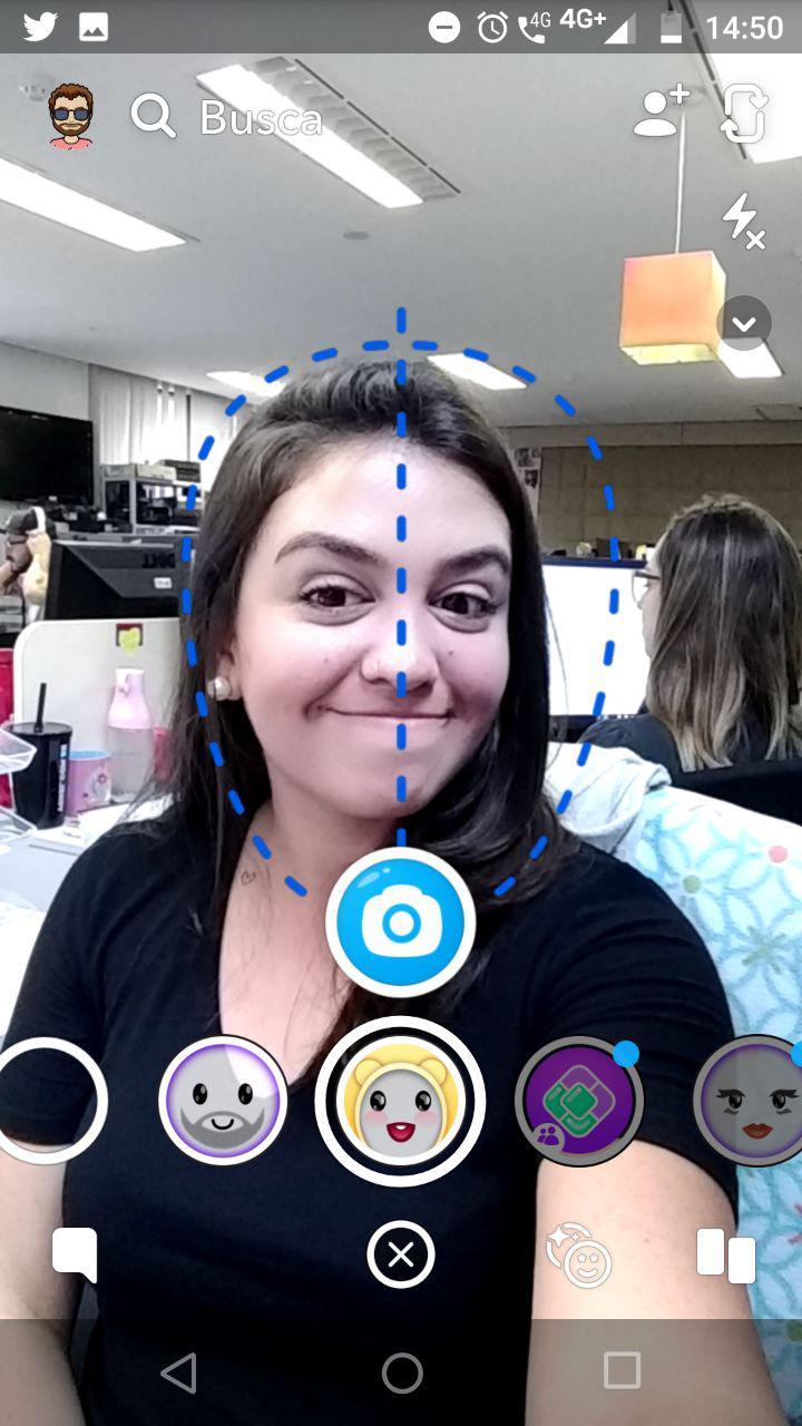 Snapchat filtro bebe nome
