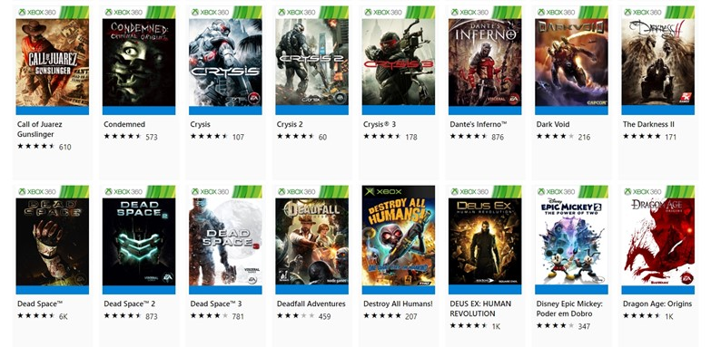 The Xbox Live promotion brings many backwards compatible games with good discounts
