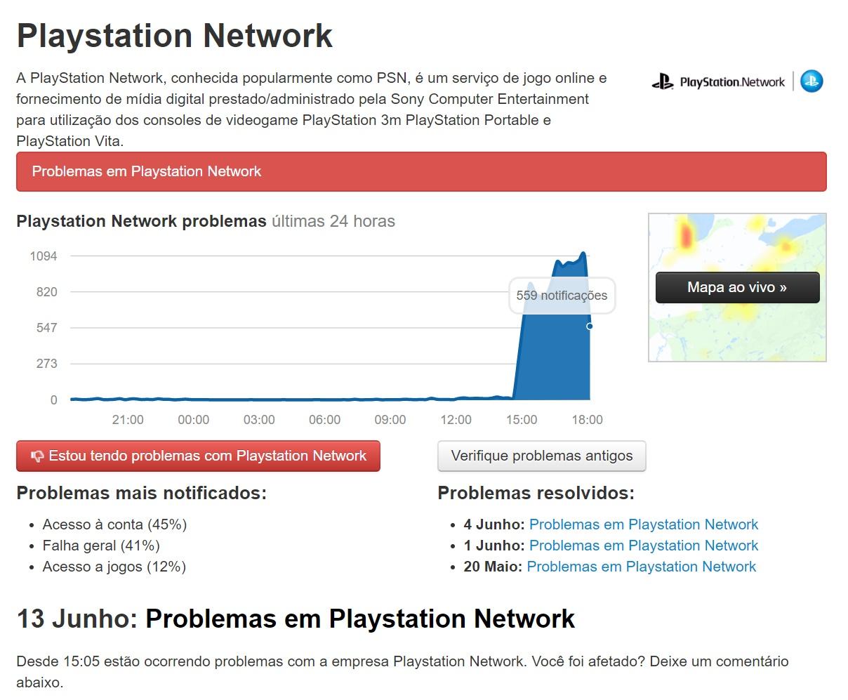 PSN sofre instabilidade e jogadores reportam problemas para jogar online