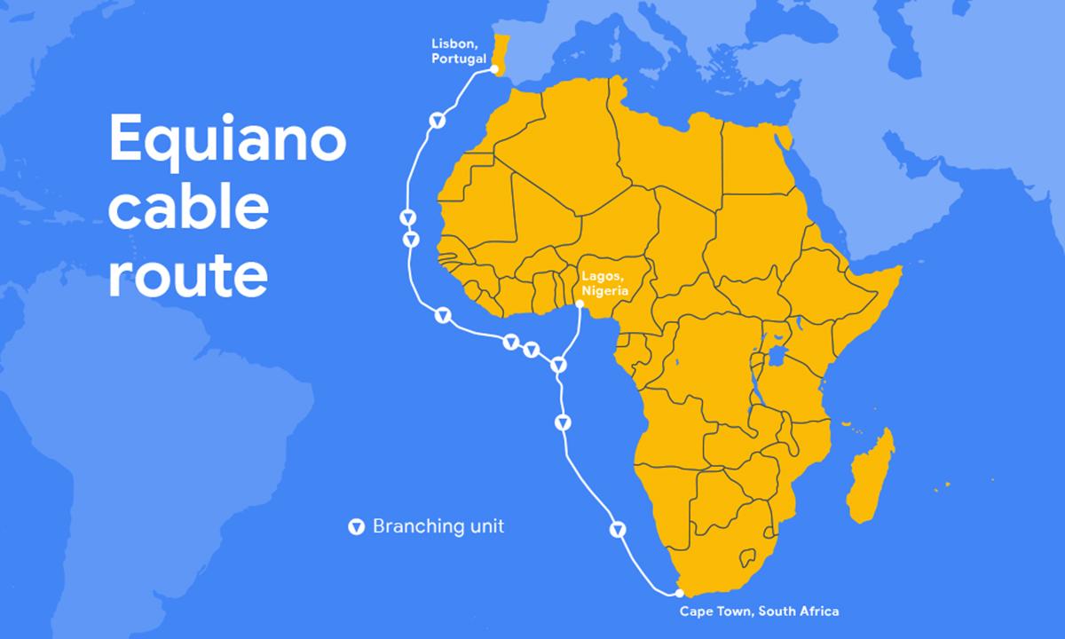 Google anuncia seu 3º cabo submarino; de Portugal para a África do Sul