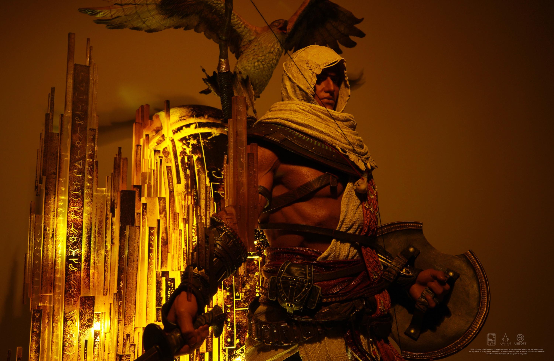 Bayek, de Assassin's Creed Origins, ganha estátua de brilhar os olhos