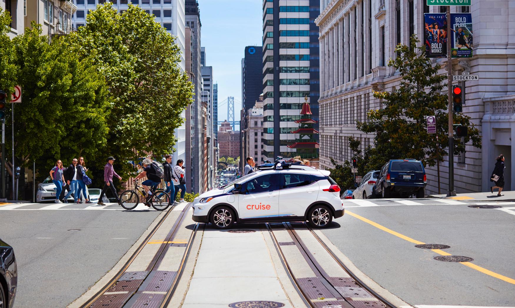 Carro da Cruise durante teste em São Francisco (fonte: Cruise/divulgação)