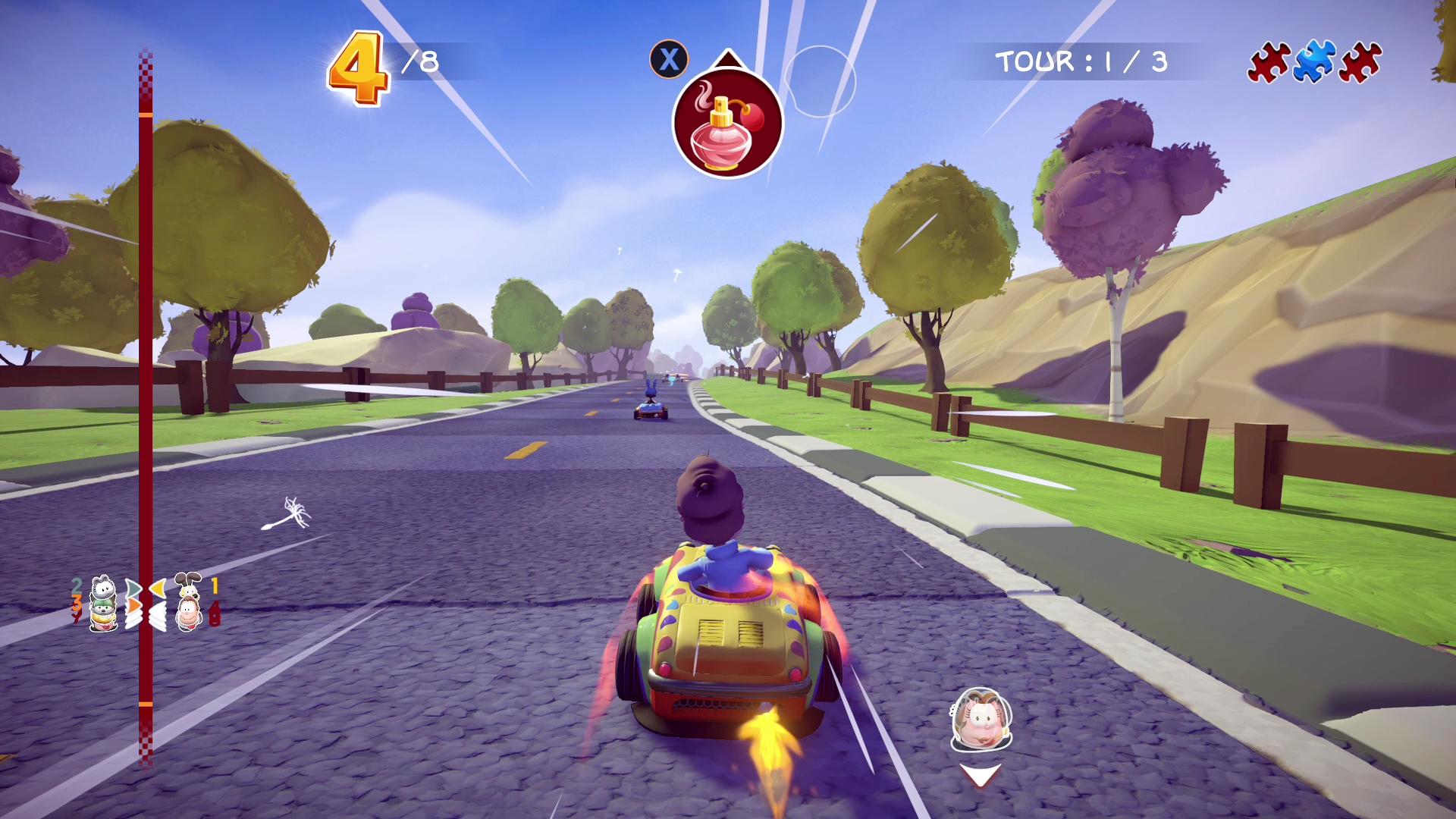 Mario Kart que se cuide: sequência do lendário Garfield Kart está chegando