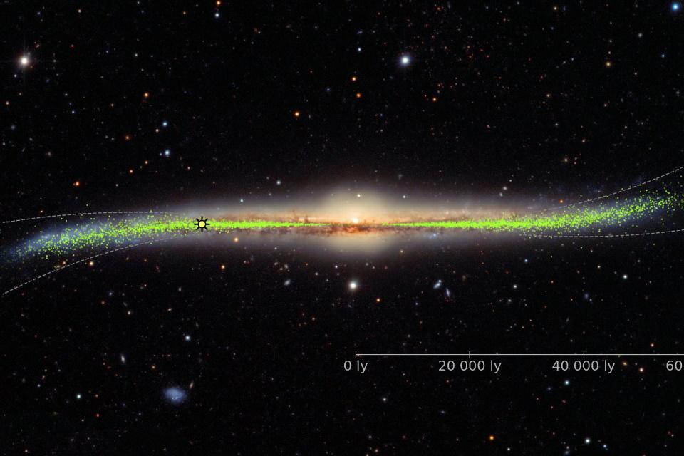 Novo mapa 3D revela que a nossa galáxia não é plana, mas retorcida
