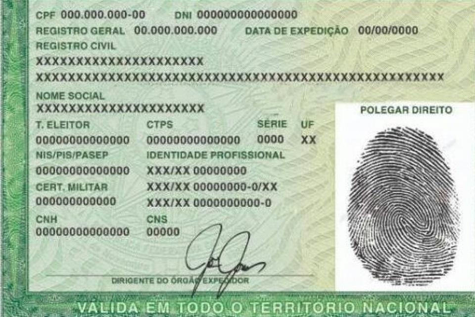 Nova carteira de identidade passa a ser emitida no estado de São Paulo