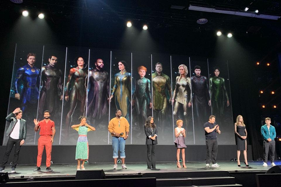 Os Eternos: Marvel libera arte na D23 que mostra visual dos personagens