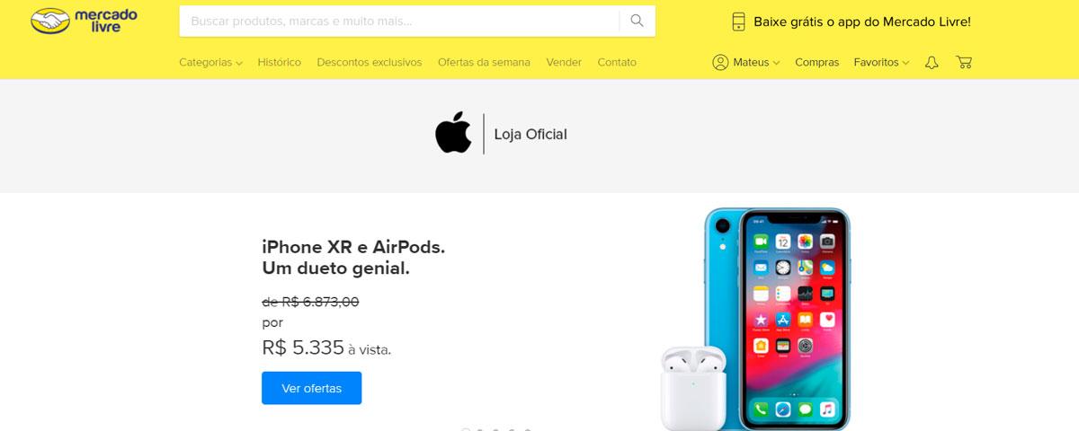 Imagem de: Apple abre loja no Mercado Livre com iPhones mais baratos e frete grátis