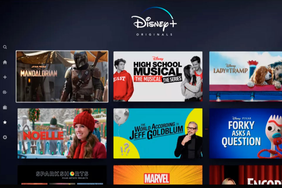 Disney+: primeiras imagens apresentam interface da plataforma de streaming