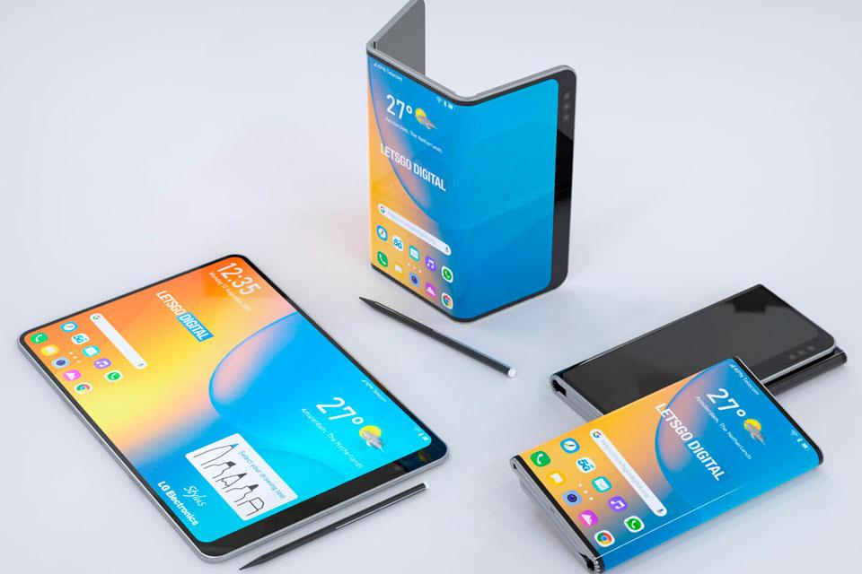 Celular dobrável da LG aparece com caneta Stylus em imagens de patente