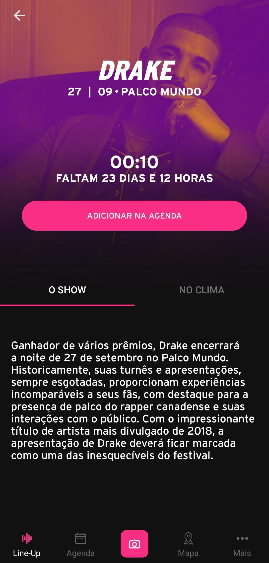 Rock in Rio 2019 - Imagem 1 do software