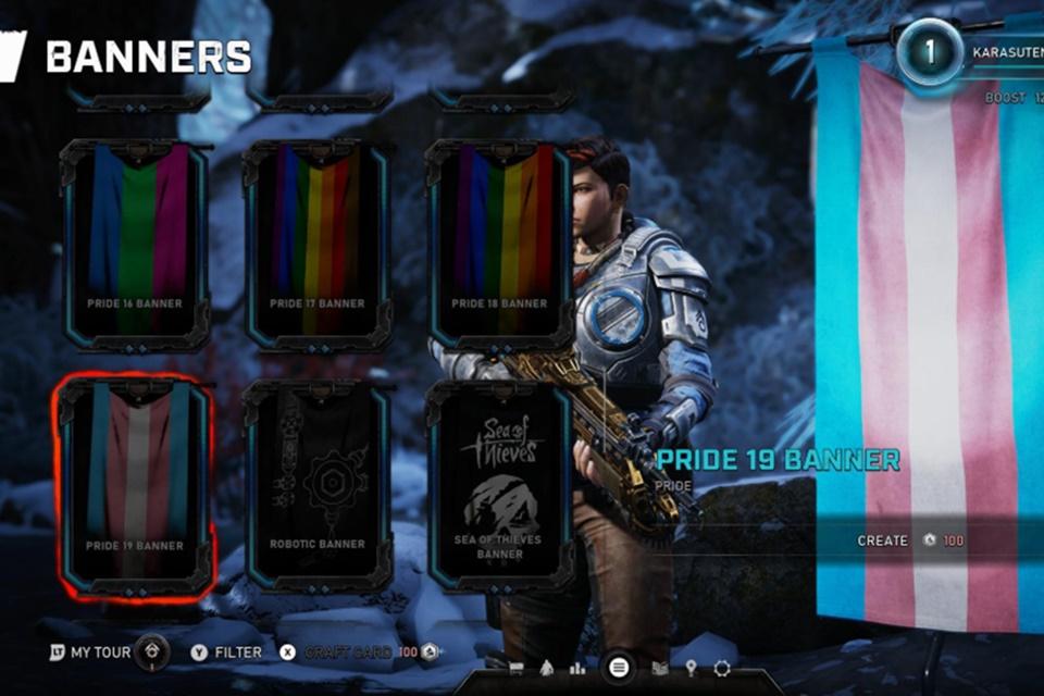 Gears 5 terá bandeiras LGBT para usar no multiplayer