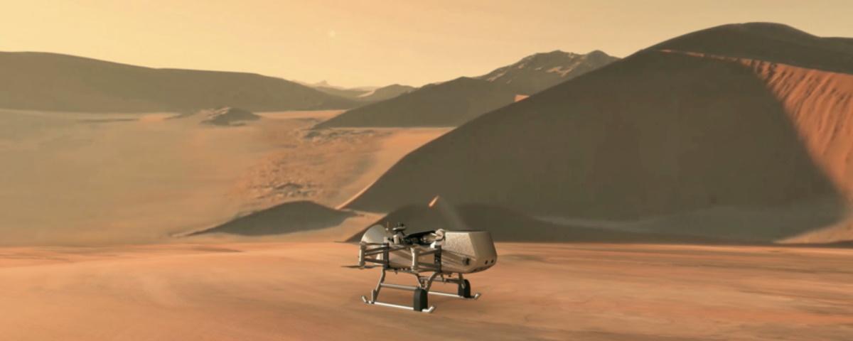 Dragonfly: esse drone pequenino vai explorar uma lua de Saturno
