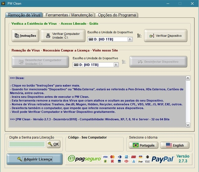 PW Clean - Imagem 1 do software